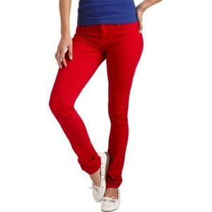 3/$25 LEI Ashleigh Skinny Jeans Red